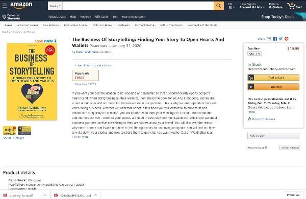 Knjiga končno na Amazonu!