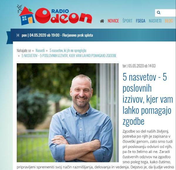 Radio Odeon: 5 poslovnih izzivov, kjer vam lahko pomagajo zgodbe