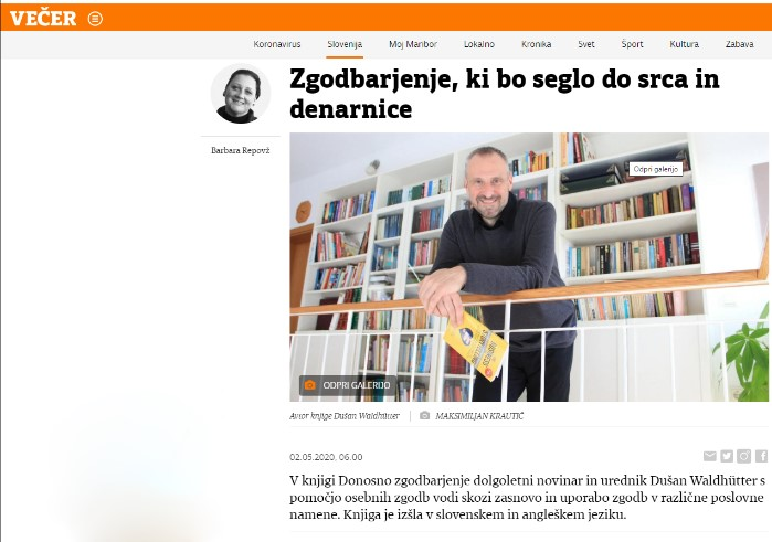 Vecer.com – ob izidu knjige
